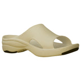 Women's Premium Slides - Tan with Black