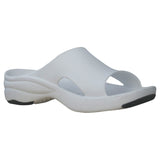 Women's Premium Slides - White with Black (Special Offer)