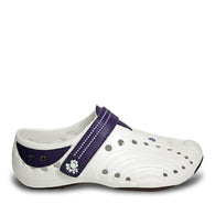Girls' Premium Spirit Shoes - White with Plum
