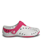 Women's Premium Spirit Shoes - White with Hot Pink