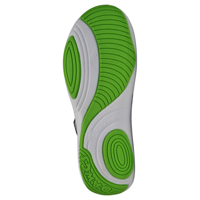 Women's Premium Spirit Shoes - White with Lime Green
