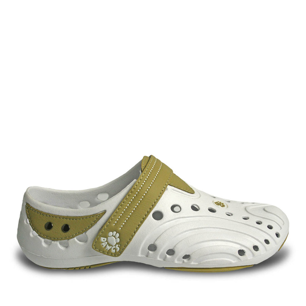 Women's Premium Spirit Shoes - White with Tan