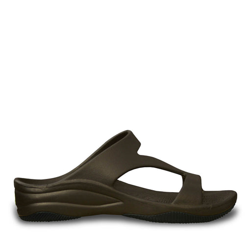 Women's Premium Z Sandals - Dark Brown with Black