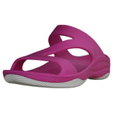 Women's Premium Z Sandals - Hot Pink with White