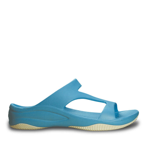 Women's Premium Z Sandals - Peacock with White