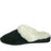 Men's Microfiber Scuffs - Black with White