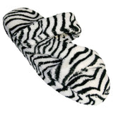 Women's Fluffy Z Slippers - Zebra