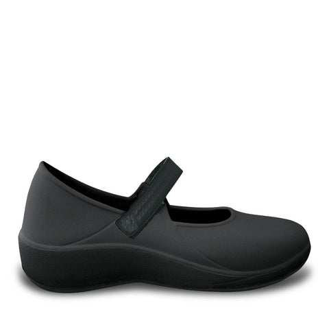 Women's Mary Jane Pro Work Shoes - Black with Black