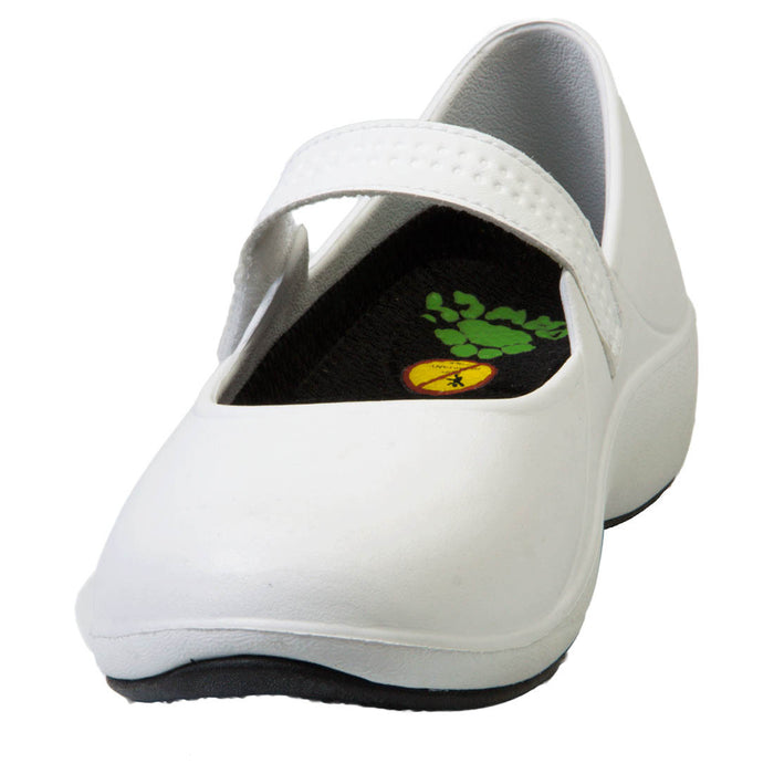Women's Mary Jane Pro Work Shoes - White with Black