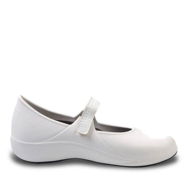 Women's Extreme Mary Jane Work Shoes - White with Black