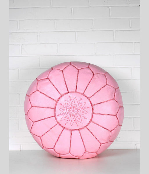 Pink-Moroccan-Leather-Pouf
