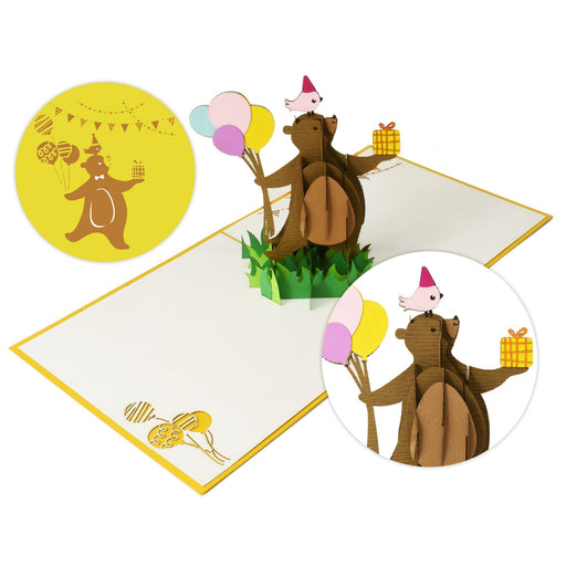Birthday Bear with Balloons