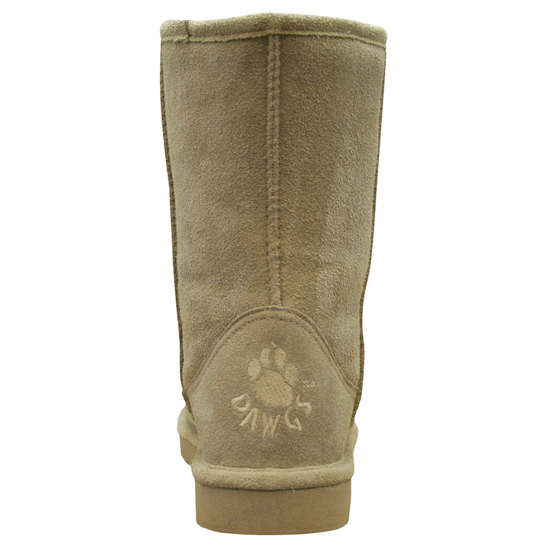 Women's 9-inch Cow Suede Boots - Natural
