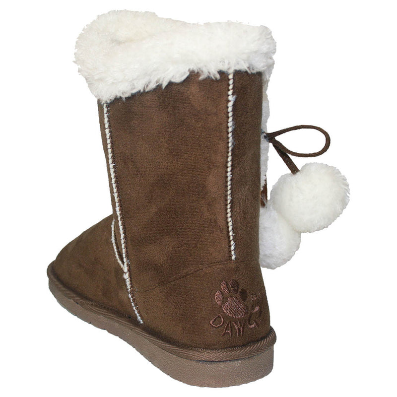 Women's 9-inch Side Tie Microfiber Boots - Chocolate
