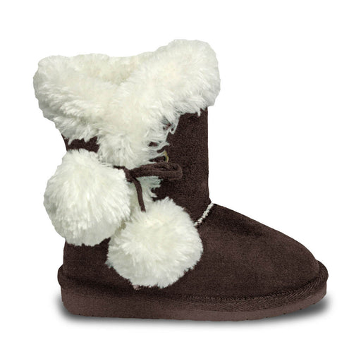 Toddlers' Side Tie Microfiber Boots - Chocolate