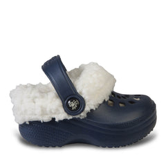 Kids' Fleece Dawgs - Navy with White