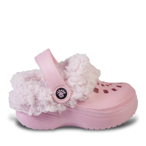 Kids' Fleece Dawgs - Soft Pink with Pink