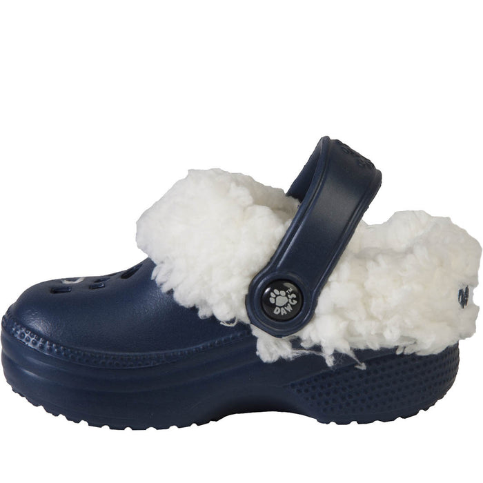 Toddlers' Fleece Dawgs - Navy with White
