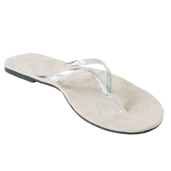 Hounds Women's Bendable Flip Flops - Silver