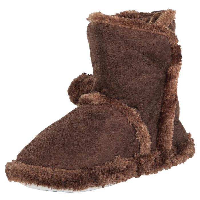 Hounds Women's Microfiber Booties - Dark Brown