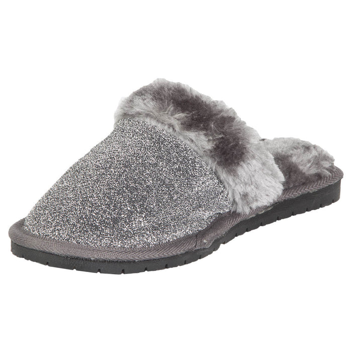 Hounds Women's Frosted Memory Foam Scuffs - Silver