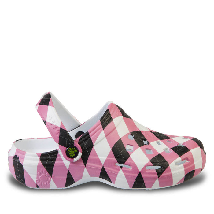 Women's Loudmouth Beach Dawgs - Pink and Black Tile