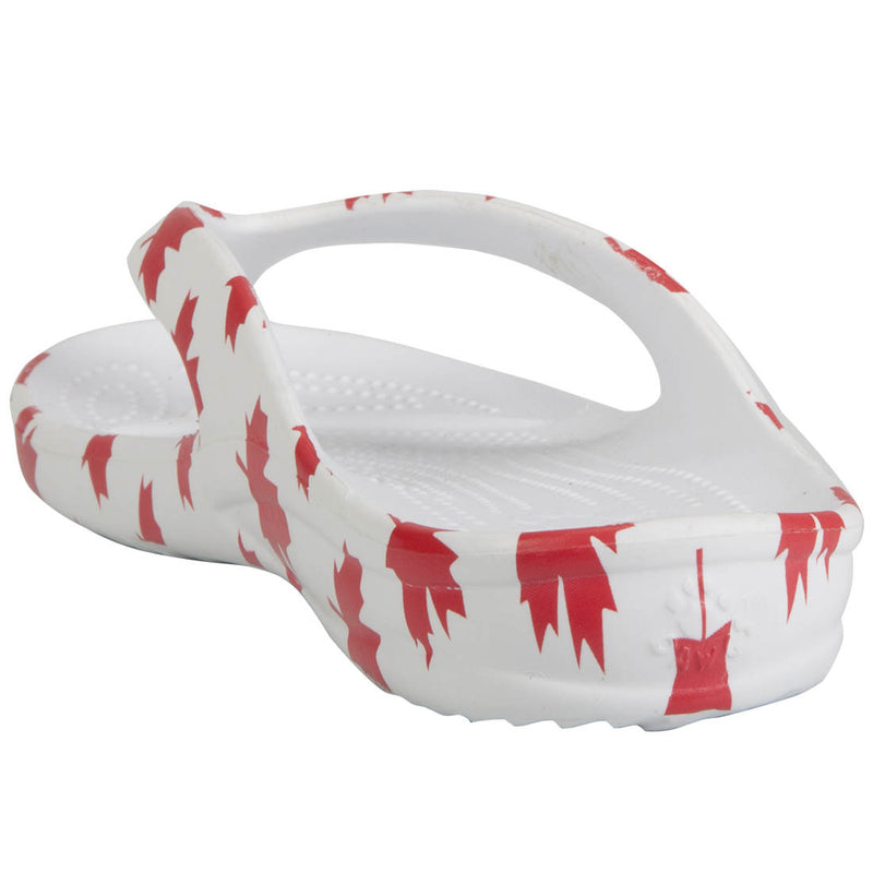 Men's Flip Flops - Canada (White/Red)