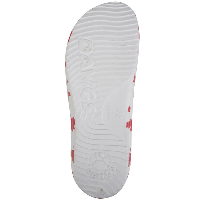 Kids' Flip Flops - Canada (White/Red)