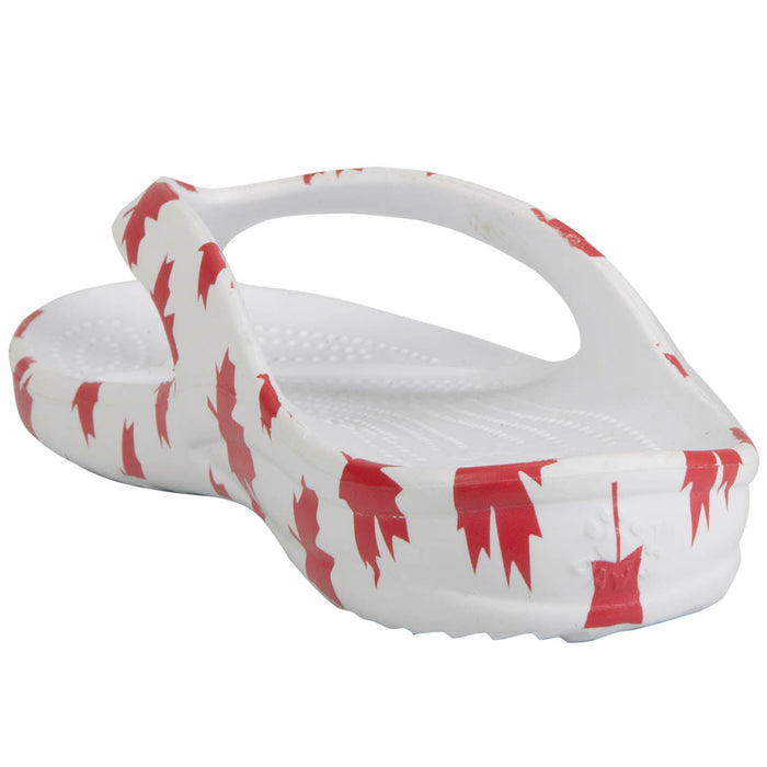 Toddlers' Flip Flops - Canada (White/Red)