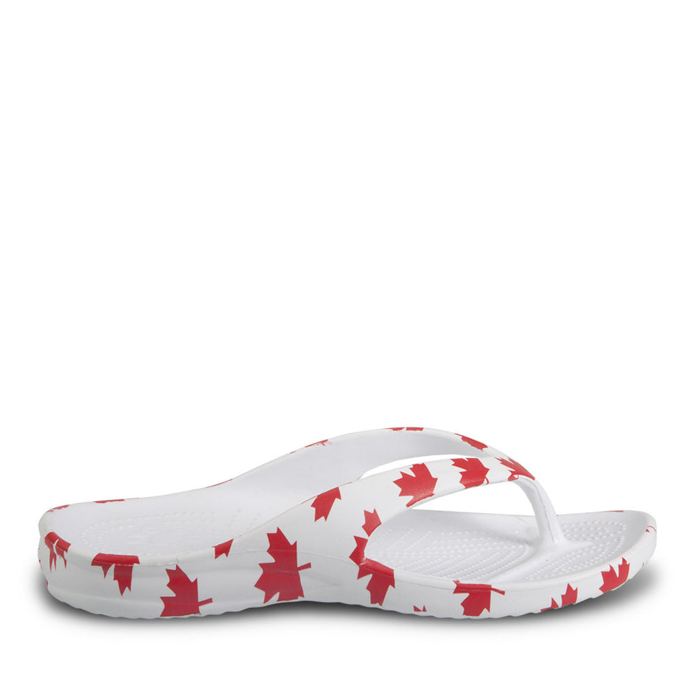Women's Flip Flops - Canada (White/Red)