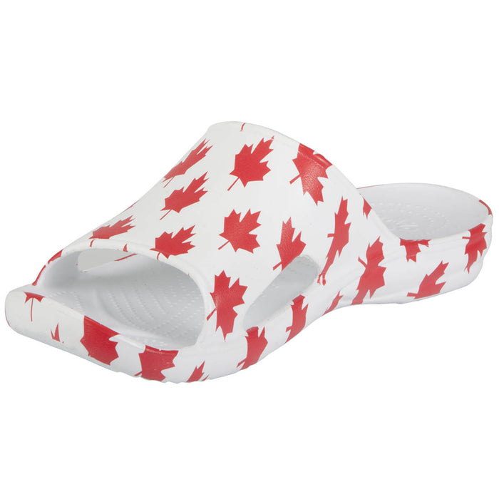 Men's Slides - Canada (White/Red)