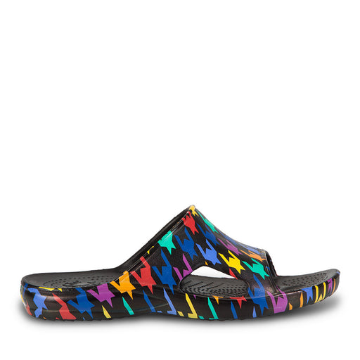 Men's Loudmouth Slides - Razzle Dazzle Black