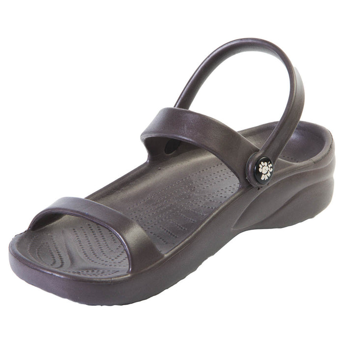 Women's 3-Strap Sandals - Dark Brown