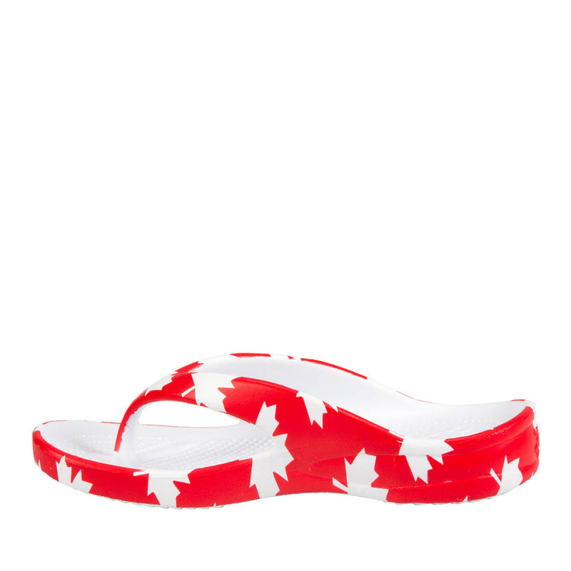 Kids' Flip Flops - Canada (Red/White)