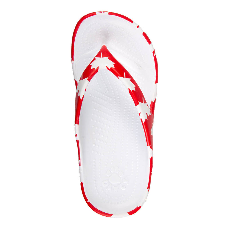 Toddlers' Flip Flops - Canada (Red/White)