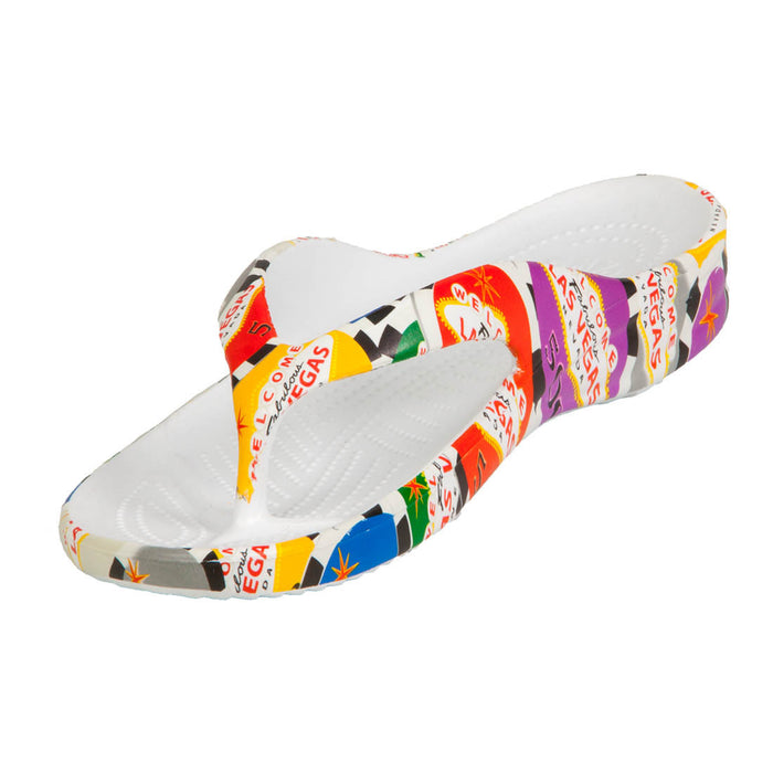 Women's Flip Flops - Poker Chips