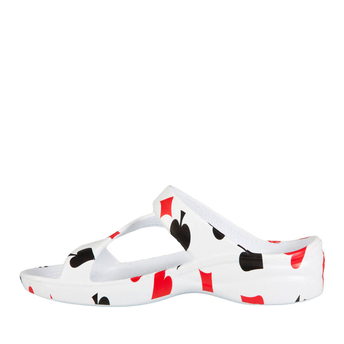 Women's Z Sandals - Hearts, Diamonds, Spades, Clubs