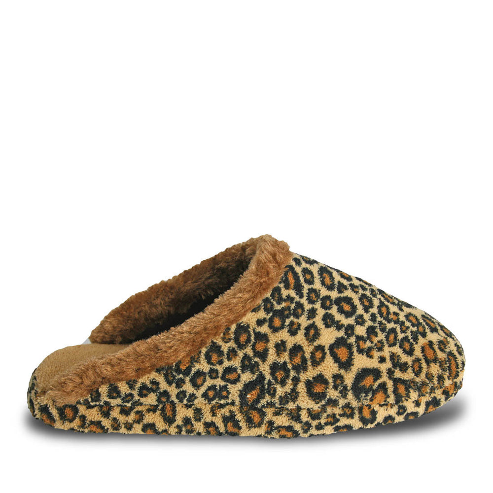 Women's Foam Slide Scuffs - Leopard