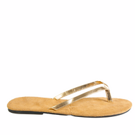 Hounds Women's Bendable Flip Flops - Gold