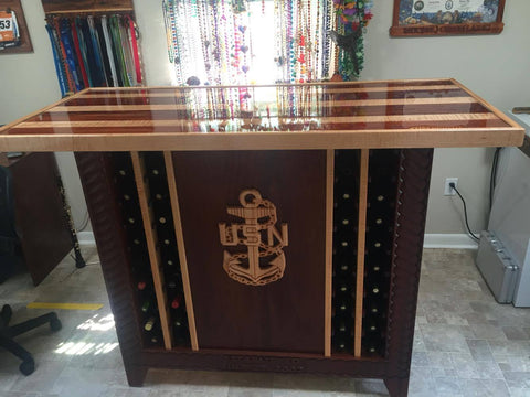 The Navy Chief Bar - the Perfect Centerpiece for Your Man Cave