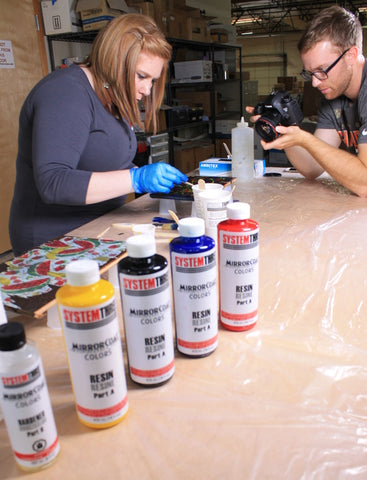 Behind the Scenes:  Filming the MirrorCoat Colors Decorative Application Video