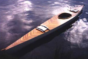 Seventeen foot cedar-strip kayak