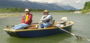 two people in skiff
