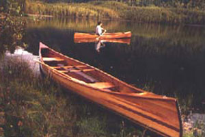 Cedar Stripped Planked Canoe