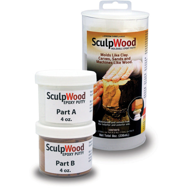 Sculpwood putty moldable epoxy wood filler putty for Wood floor epoxy filler