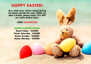 Easter Trading Hours & Discount Code