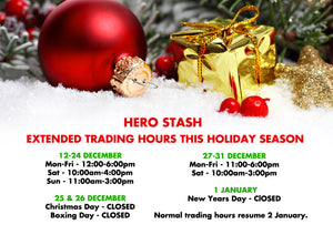 Extended trading hours this holiday season & thank you