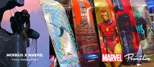 Moebius X Marvel Primitive Skateboard Decks now in Store