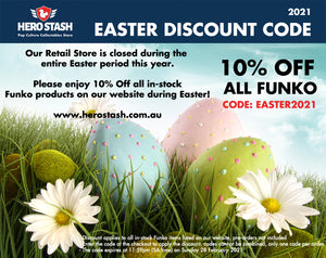 Easter Trading Hours 2021 - 10% Off All Funko!