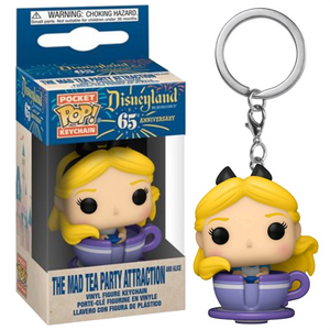 Disneyland 65th Anniversary - The Mad Tea Party Attraction with Alice Pocket Pop! Keychain